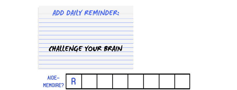 daily aide-memoire for brain challenge