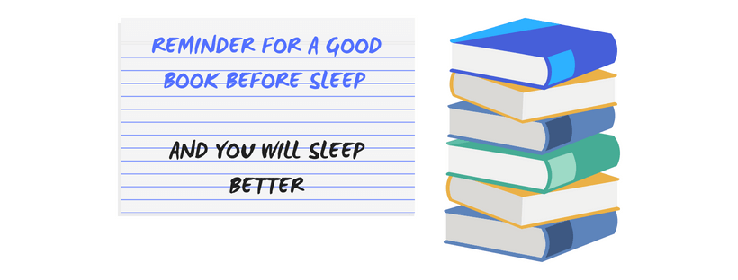 daily reminders for a good book before sleeping