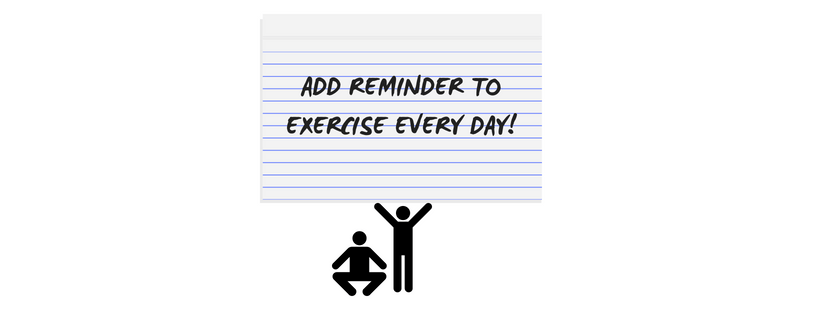 add daily reminders for exercise